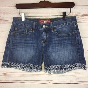 Lucky Brand Beachcomber Embroidered Hem Shorts